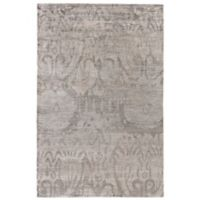 Exquisite Rugs Antique'd Silk 8-Foot x 10-Foot Area Rug in Silver
