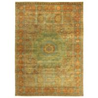 Exquisite Rugs Mamluk 8-Foot x 10-Foot Area Rug in Green/Light Blue