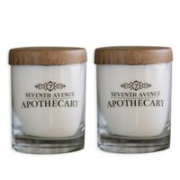 Seventh Avenue Apothecary Minted Grapefruit + Sage and Eucalyptus + Ginseng Soy Candles (Set of 2)