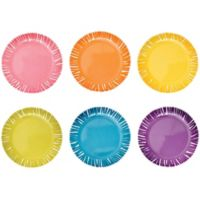 French Bull® Fringe Assorted Appetizer Plates (Set of 6)