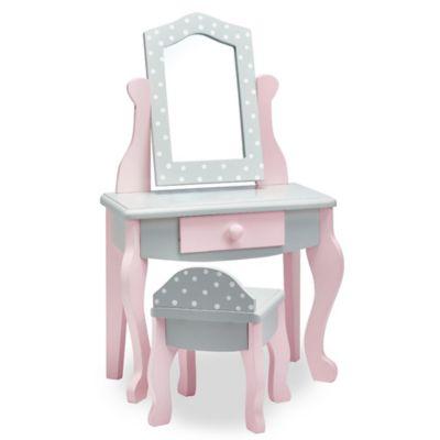 Kids Toys U003e Teamson Oliviau0027s Little World 18 Inch Doll Vanity Table And  Stool Set