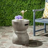 Safavieh Haruki 13.7-Inch Round Concrete Accent Table in Dark Grey