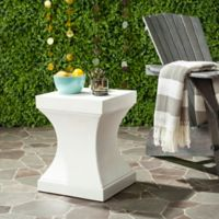 Safavieh Curby Concrete Accent Table in Ivory