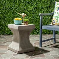 Safavieh Curby Concrete Accent Table in Dark Grey