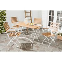 Safavieh Lawndale 5-Piece Wood Dining Set in Ash Grey