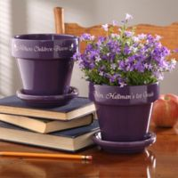 Where Children Bloom Flower Pot in Purple