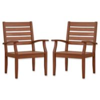 Verona Home Pacific Grove Outdoor Dining Armchairs in Brown (Set of 2)
