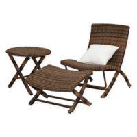 Safavieh Perkins 3-Piece Chaise Set in Brown