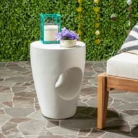 Safavieh Aishi Concrete Accent Table in Ivory