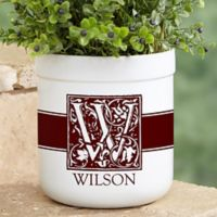 Floral Monogram Outdoor Flower Pot