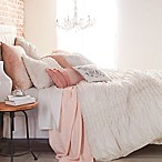 Peri Home Triangle Braid Full/Queen Duvet Cover in Linen