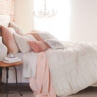 Peri Home Triangle Braid Twin Comforter Set in Linen