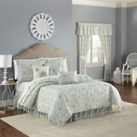 Waverly® Astrid Reversible Twin Quilt Set in Mineral