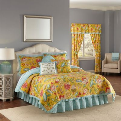 shop quilt and glory ivory quilts piece queen bedspreads bedding mist bath blue collection floral garden cotton bed bedspread king waverly