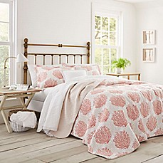laura ashley coral coast quilt set in coral bed bath. Black Bedroom Furniture Sets. Home Design Ideas