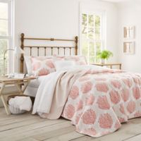 Laura Ashley® Coral Coast Full/Queen Quilt Set in Coral