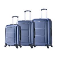 InUSA Pilot 3-Piece Hardside Spinner Luggage Set in Navy