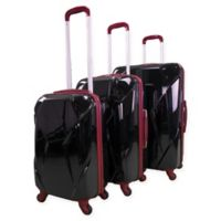 Chariot Antonio 3-Piece Hardside Luggage Set in Black
