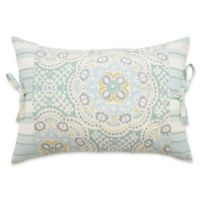 Waverly® Astrid Side-Tie Oblong Throw Pillow in Mineral