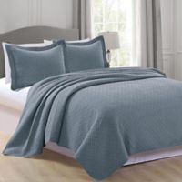 Great Home Bay Rianni Full/Queen Quilt Set in Blue