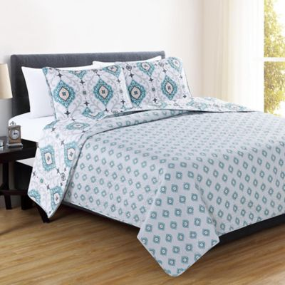 Buy Aqua Queen Quilt from Bed Bath & Beyond : aqua quilt - Adamdwight.com