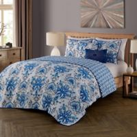 Tabitha Reversible Queen Quilt Set in Blue