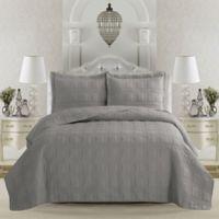 Great Bay Home Terra Full/Queen Quilt Set in Glacier Grey