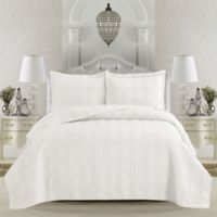 Great Bay Home Terra Twin Quilt Set in Optic White