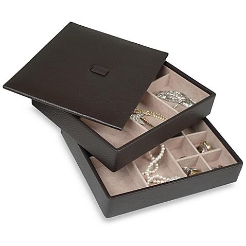 Tray Chic Anti Tarnish Lined Jewelry Storage Set Of 2
