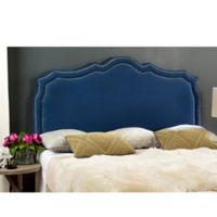 Safavieh Skyler Upholstered Full Headboard in Steel Blue