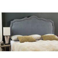 Safavieh Skyler Upholstered Queen Headboard in Grey