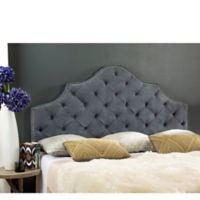 Safavieh Arebelle Tufted Upholstered Full Headboard in Grey