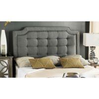Safavieh Sapphire Tufted Velvet Upholstered Full Headboard in Taupe