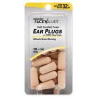 Harmon® Face Values® 10-Count Soft Comfort Foam NRR 32 dB Ear Plugs with Case
