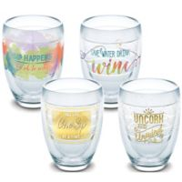 Tervis® Eat Drink Be Merry Stemless Wine Glasses (Set of 4)