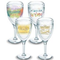 Tervis® Eat Drink Be Merry Wine Glasses (Set of 4)