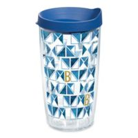 "Tervis® Geometric Monogram Letter ""B"" 16 oz. Wrap Tumbler with Lid"