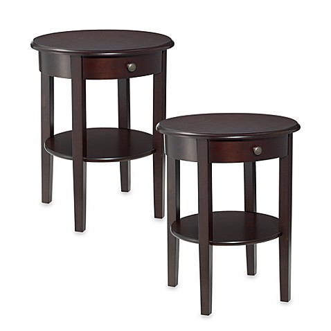 Charleston Round Side Tables (Set of 2) - Bed Bath & Beyond