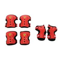 Ferrari Large 6-Piece Protective Gear Set in Red