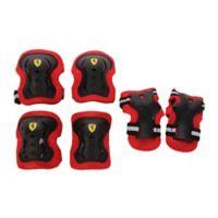 Ferrari Medium 6-Piece Protective Gear Set in Black