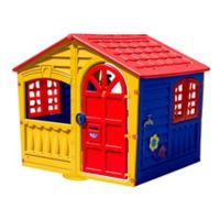 PalPlay House of Fun Indoor/Outdoor Playhouse in Yellow/Multi