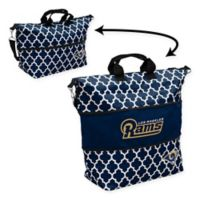 NFL Los Angeles Rams Quatrefoil Expandable Tote in Navy