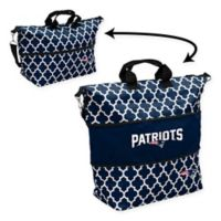 NFL New England Patriots Quatrefoil Expandable Tote in Navy