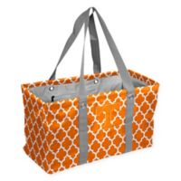 University of Tennessee Quatrefoil Picnic Caddy Tote in Tangerine