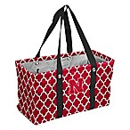 University of Nebraska Quatrefoil Picnic Caddy Tote in Red
