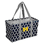 University of Michigan Quatrefoil Picnic Caddy Tote in Navy
