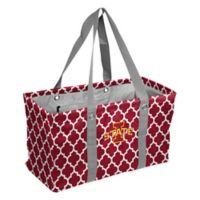 Iowa State University Quatrefoil Picnic Caddy Tote in Cardinal