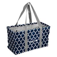 NFL Seattle Seahawks Quatrefoil Picnic Caddy in Navy