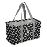 NFL Oakland Raiders Quatrefoil Picnic Caddy in Black