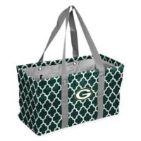 NFL Green Bay Packers Quatrefoil Picnic Caddy in Hunter
